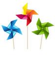 colorful pinwheels vector image