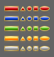 Golden glossy buttons vector image