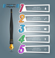 ink penl education icon business infographic vector image