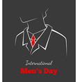International mans day vector image