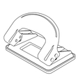 paper punch outline vector image