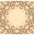 celtic ornamental design element vector image vector image