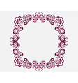 Royal frame with luxurious damask ornaments vector image
