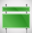 Blank green metal boards vector image vector image