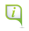 information icon on green pointer vector image vector image