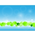 fresh green leaves vector image vector image