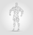 Abstract human figure from dots and lines Hero vector image