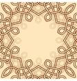celtic ornamental design element vector image