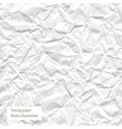 crumpled white paper trace vector image