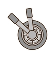 handle safe box isolated icon vector image