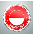 Indonesian flag label vector image