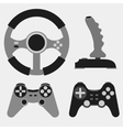 Joystick flat icons - vector image
