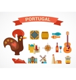 Portugal - set of icons vector image
