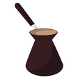 Turkish coffee pot vector image