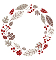 Xmas retro holiday wreath isolated on white vector image