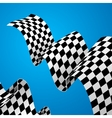 Racing Flag Background vector image vector image