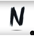 Calligraphic watercolor letter N vector image
