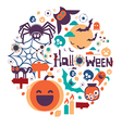 halloween circle design vector image