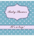 Background with hearts baby shower vector image vector image