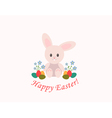 Happy Easter with bunny vector image