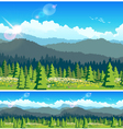 picturesque forest vector image