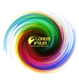 Colorful abstract icon vector image