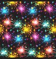 seamless texture with festive fireworks of hearts vector image