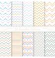 Set of ten seamless retro patterns vector image