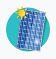 Solar panel flat icon vector image