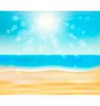 summer sea beach vector image