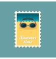 Swimming Goggles flat stamp vector image