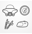 Classic motorcycle icons vector image