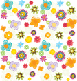 Set of fun flowers vector image vector image