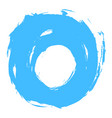 blue brushstroke circle form vector image