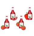 Ketchup tomato label vector image