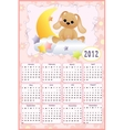 Babys calendar for 2012 vector image vector image