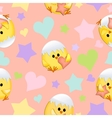 Seamless Valentines Day background vector image