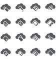 Set of icons Cloud storage concept vector image