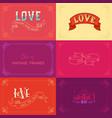 set of vintage frames on coloured backgrounds vector image