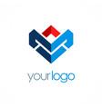 shape business logo vector image