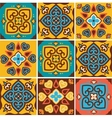 Traditional ceramic tiles patterns vector image