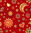 sun and moon seamless pattern vector image vector image