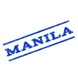 Manila Watermark Stamp vector image