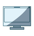blue shading silhouette of lcd monitor vector image