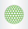 christmas green decoration ball vector image