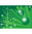 Christmas background green vector image