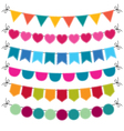 Cute bunting set vector image