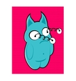 blue monster with bulging eyes vector image