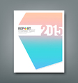Cover Report soft pink and blue background vector image