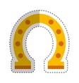 horseshoe luck isolated icon vector image